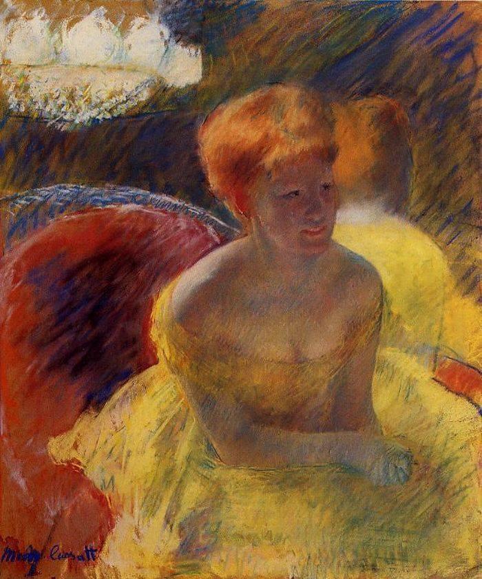 Maria Cassatt - Lydia Cassatt in the Loge 1880